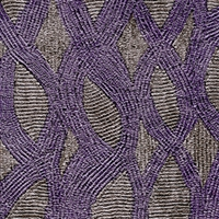 Elitis Perles VP 912 09.  Purple embossed vinyl beaded wallpaper. Click for details and checkout >>