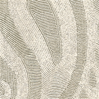 Elitis Perles VP 911 02.  Gray paisley embossed vinyl beaded wallpaper. Click for details and checkout >>