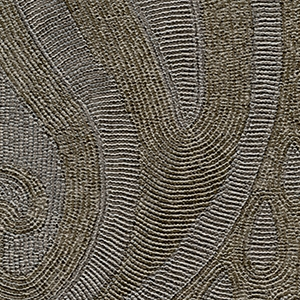 Elitis Tourmaline Embossed Dark Gray Paisley Modern