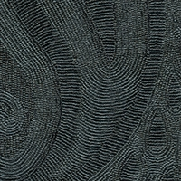 Elitis Perles VP 911 12.  Black paisley embossed vinyl beaded wallpaper. Click for details and checkout >>