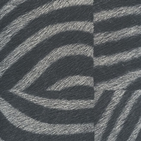 Elitis Memoires Zebre VP 655 02.  Black and gray faux hide zebra print wallpaper.  Click for details and checkout >>