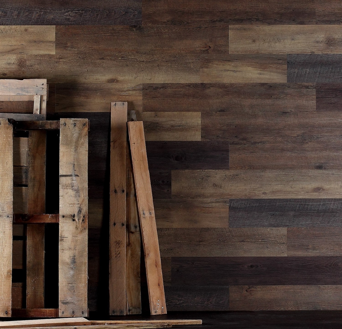 Reclaimed Pallet Wood Look Wood Wall Planking Free Shipping
