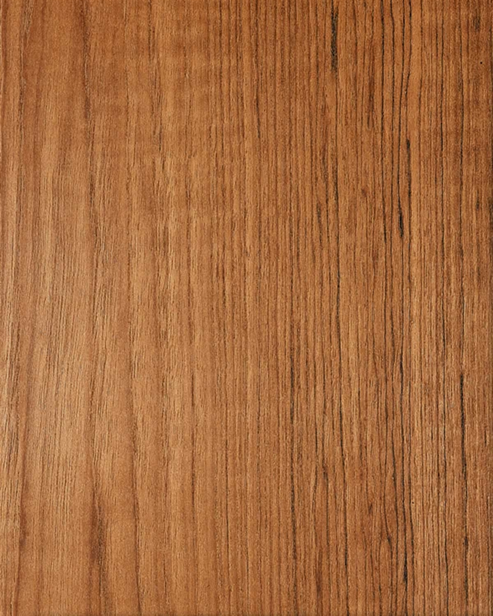 Cathedral Grained Teak Wood Veneer Wall Covering Rustic