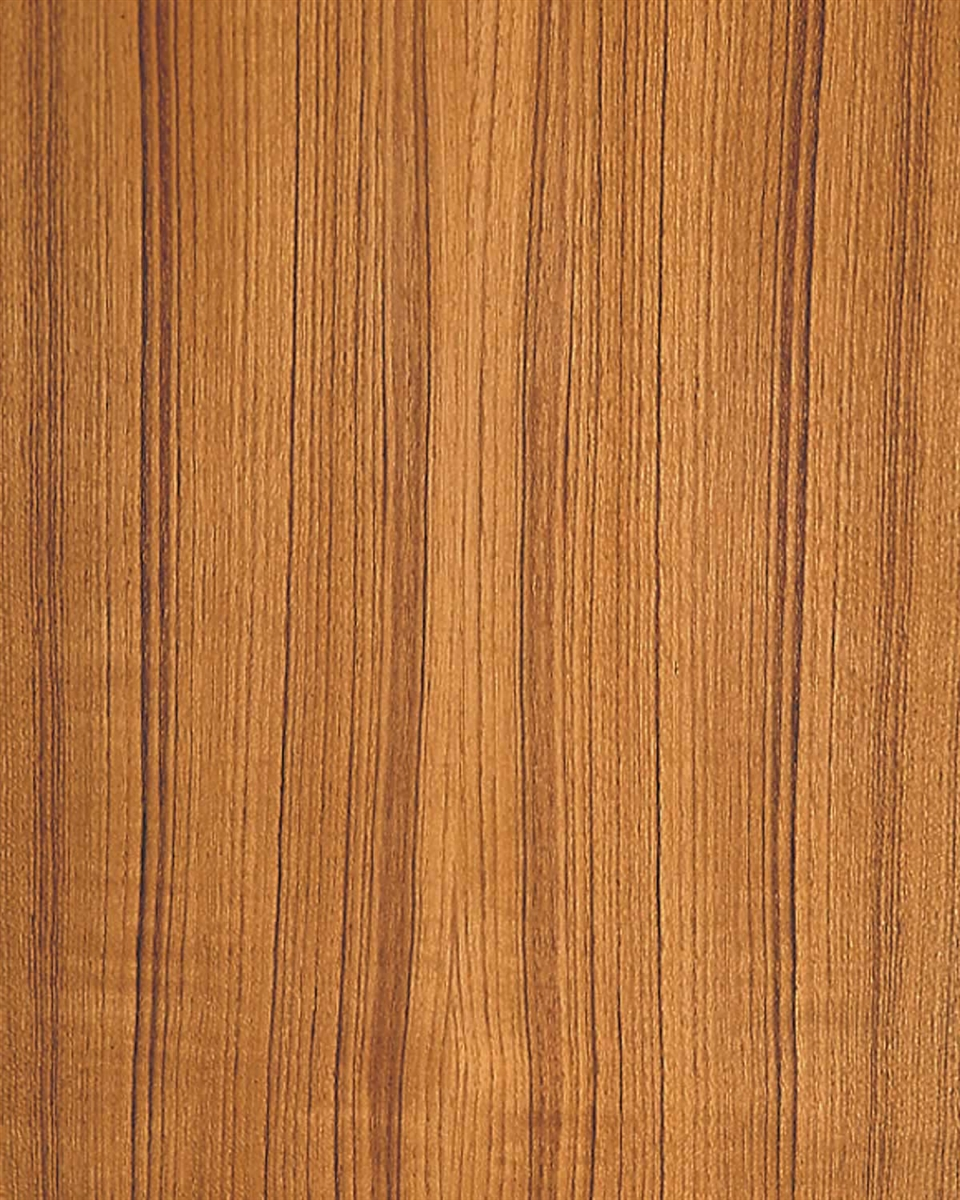 Laminated Vinyl Wallcovering ~ Tight grained teak wood wallpaper natural wall