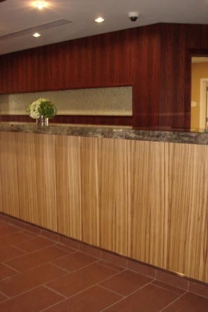 Exotic Zebra Wood Veneer Wall Covering Wallpaper Perfect