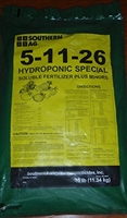 SA 5-11-26 Hydroponic Soluble Fertilizer - 25 Lbs.
