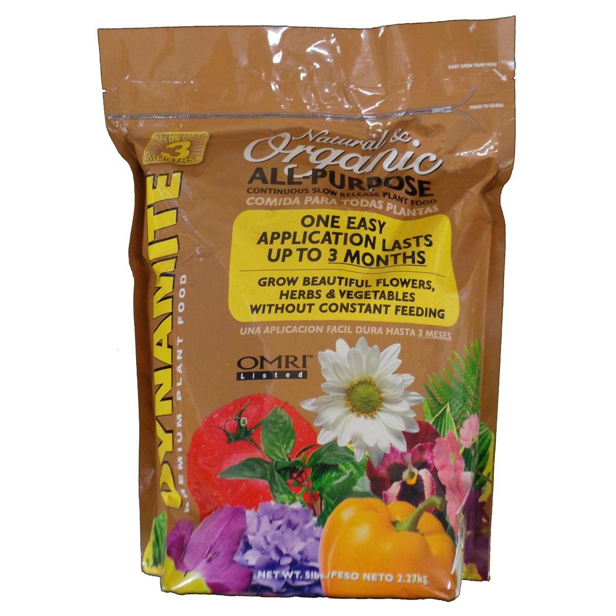 Dynamite All-Purpose Organic Plant Food 10-2-8 - 5 lbs.