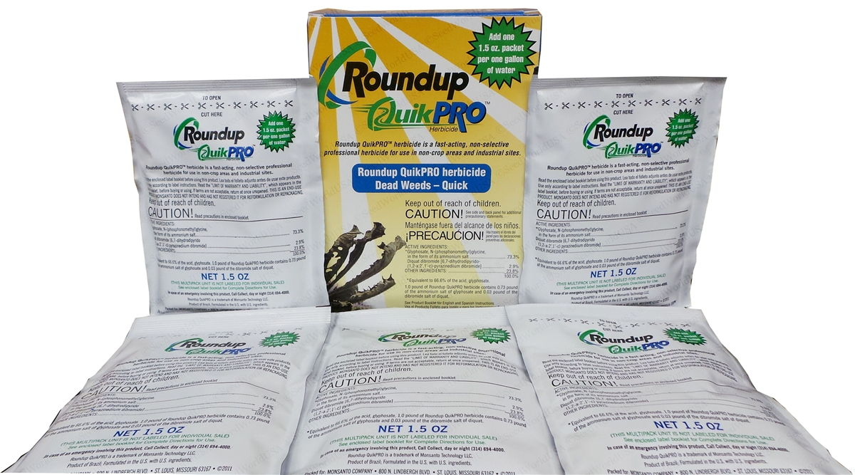 Roundup Quikpro Herbicide - 5 Packets