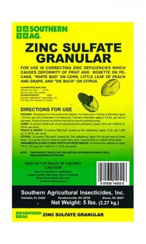 Zinc Sulfate Granular Fertilizer - 5 Lbs