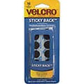 Velcro Brand Sticky Back Black Coins
