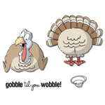 GOBBLE SET, FOAM MOUNTED BY ART IMPRESSIONS UM4369