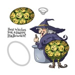 BEST WITCHES SHAKER SET UM4684 UNMOUNTED CLINGS BY ART IMPRESSIONS