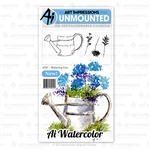 ART IMPRESSIONS WATERCOLOR WATERING CAN 4761