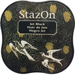 STAZON MIDI INK PAD - JET BLACK - BY TSUKINEKO