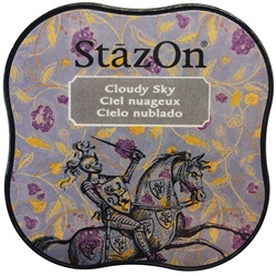 STAZON MIDI INK PAD - CLOUDY SKY - BY TSUKINEKO
