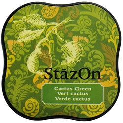 STAZON MIDI INK PAD - CACTUS GREEN - BY TSUKINEKO
