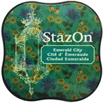 STAZON MIDI INK PAD - EMERALD CITY - BY TSUKINEKO