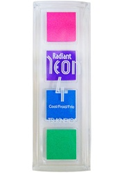 RADIANT NEON 4 COOL- ELECTRIC PINK,PURPLE,BLUE,GREEN 4 MINI PAD SET NR-QTT-092