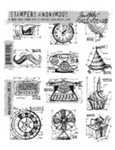 MINI BLUEPRINTS 4 CLINGS BY TIM HOLTZ-STAMPERS ANONYMOUS CMS154