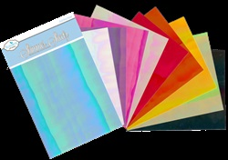 "IRIS SAMPLER PACK SHIMMER SHEETZ, 5"" X 4"" 10PK BY ELIZABETH CRAFT SS0227"