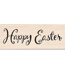 HAPPY EASTER WOOD BLOCK STAMP BY INKADINKADO