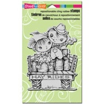 HAY RIDE KIDDOS FOAM MOUNTED CLING BY STAMPENDOUS GREAT FOR THANKSGIVING