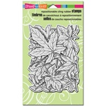 LEAF BACKGROUND CLING BY STAMPENDOUS
