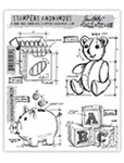 CHILDHOOD BLUEPRINT CLINGS BY TIM HOLTZ-STAMPERS ANONYMOUS CMS229