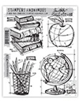 SCHOOLHOUSE BLUEPRINT CLINGS BY TIM HOLTZ-STAMPERS ANONYMOUS CMS230