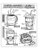 FRESH BREWED BLUEPRINT CLINGS BY TIM HOLTZ-STAMPERS ANONYMOUS CMS232