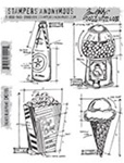 TREATS BLUEPRINT CLINGS BY TIM HOLTZ-STAMPERS ANONYMOUS CMS195