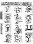 MINI BLUEPRINTS 6 CLINGS BY TIM HOLTZ-STAMPERS ANONYMOUS CMS196