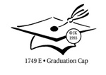 Graduation Cap Wood Mounted Stamp by Judikins