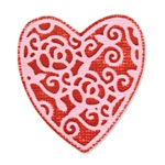 SIZZIX EMBOSSLITS DIE - HEART, ENGLISH ROSE BY SCRAPPY CAT
