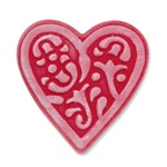SIZZIX EMBOSSLITS DIE - HEART, LACE BY SCRAPPY CAT