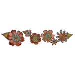 SIZZIX SIZZLITS DECO STRIP DIE - TATTERED FLOWER GARLAND BY TIM HOLTZ