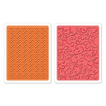 SIZZIX TIEF 2PK - CHEVRONS & FLOURISHES SET BY HERO ARTS