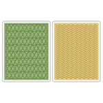 SIZZIX TFEF 2PK - CHEVRON & LATTICE SET BY TIM HOLTZ