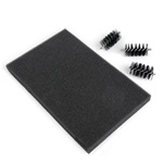 SIZZIX ACCESSORY - REPL BRUSH HEADS & FOAM PAD FOR SIZZIX DIE BRUSH (3/ROLLERS 1/PAD)