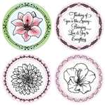 Mother Natures's Gift Set  4 Designer Center Set with 4 Borders by JustRite