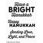 Happy Hanukkah Clear Stamps Set of 3 by MFT