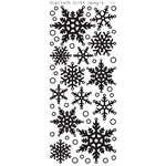 SNOWFLAKES SILVER PEEL OFFS 2551S BY ELIZABETH CRAFT