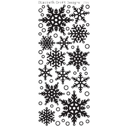 SNOWFLAKES TRANSPARENT/SILVER PEEL OFFS 2551TG BY ELIZABETH CRAFT