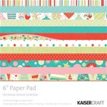 Christmas Carnival Collection 6 X 6 Paper Pad 24 Sheets Including 10 Special Papers
