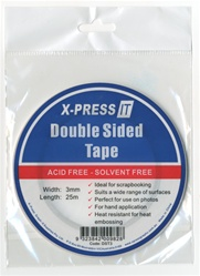 "DOUBLE SIDED TAPE, 3MM 1/8"" X 27 YARDS BY X-PRESS IT"