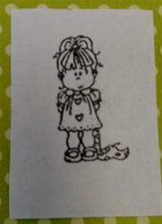 Isabella Foam Mounted Cling by Alota Rubber Stamps