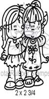 Best Girl Friends Foam Mounted Cling by Alota Rubber Stamps