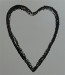 SKETCHED HEART, FOAM MOUNTED CLING BY IO
