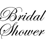 BRIDAL SHOWER C1531 FOAM MOUNTED CLING BY IO