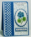 Floral Gift Set –Blue Card